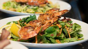 fried shrimp platter from Settlers Bay Lodge